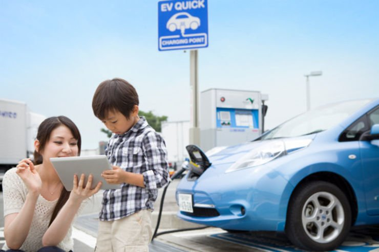 Une publicité pour voiture électrique en Chine