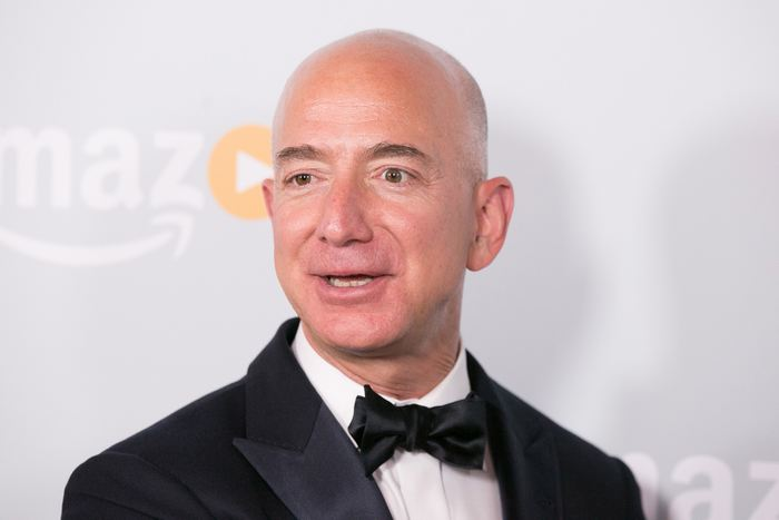 WEST HOLLYWOOD, CA - SEPTEMBER 18: Jeff Bezos arrives for Amazon's Emmy Celebration at Sunset Tower Hotel on September 18, 2016 in West Hollywood, California. (Photo by Gabriel Olsen/FilmMagic) / Getty Images