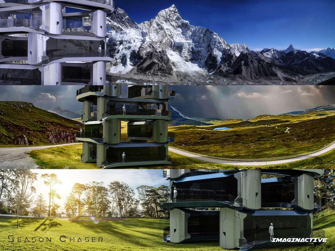 Une Maison Nomade, Le Concept de Season Chaser