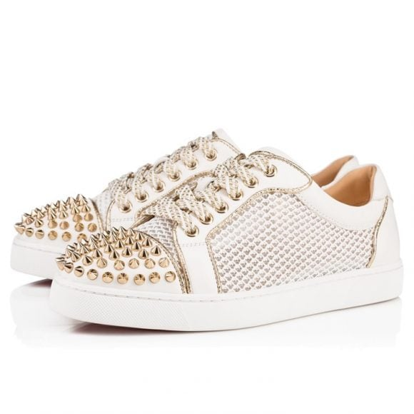 louboutin junior blanche