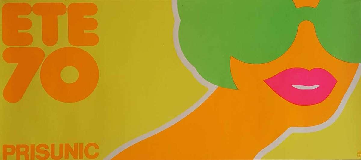 Affiche-horizontale-de-Fredman-Hauss-pour-Prisunic-1970-Collection-Librairie-Michael-Seksik-octobre-novembre 2018-Plume-Voyage-Magazine-#plumevoyage-@plumevoyagemagazine-@plumevoyage-©-DR