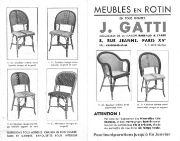 De Faire Un Modele Sur Mesure Chaises Tressees Multicolores Fabriquees Par La Maison Gatti Et Distribuees En Exclusivite Philippe Model