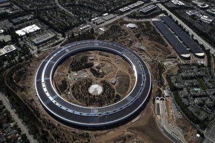 The new Apple headquarters  in Cupertino, California.