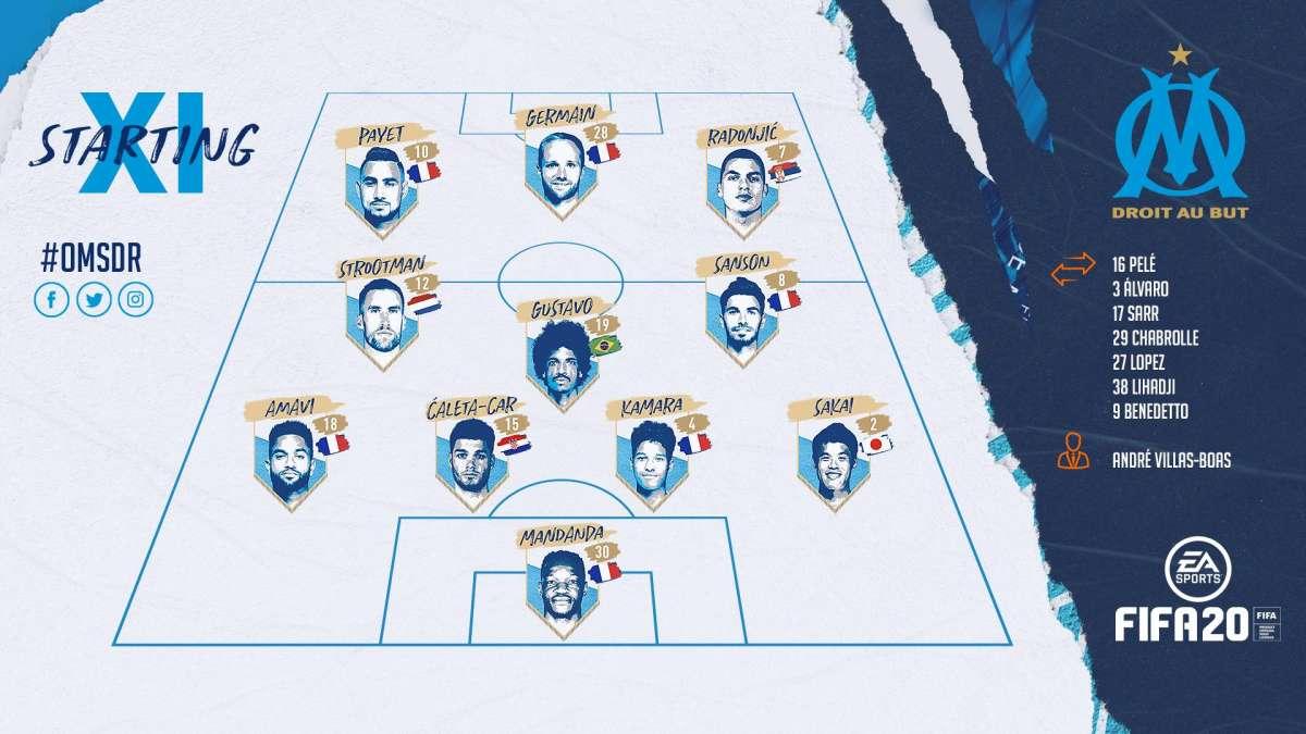 Equipe des Onze des joueurs alignés lors de la première journée de Ligue 1 face à Reims.