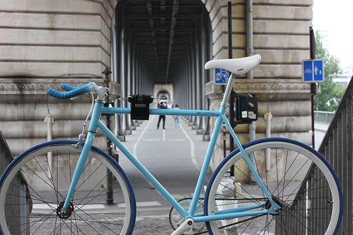 solution antivol connecté sur un vélo