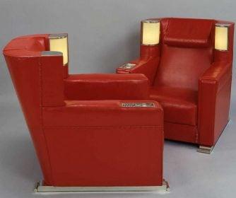 Paire de fauteuils à éclairage intégré