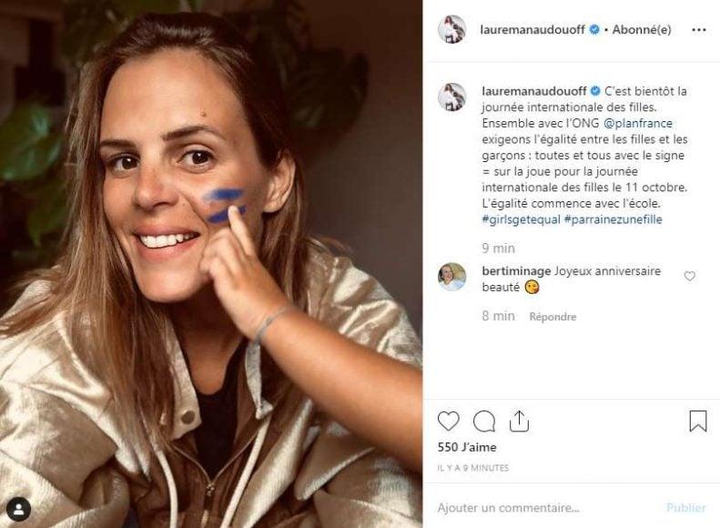 Selfie Laure manaudou soutien égalité filles garçons