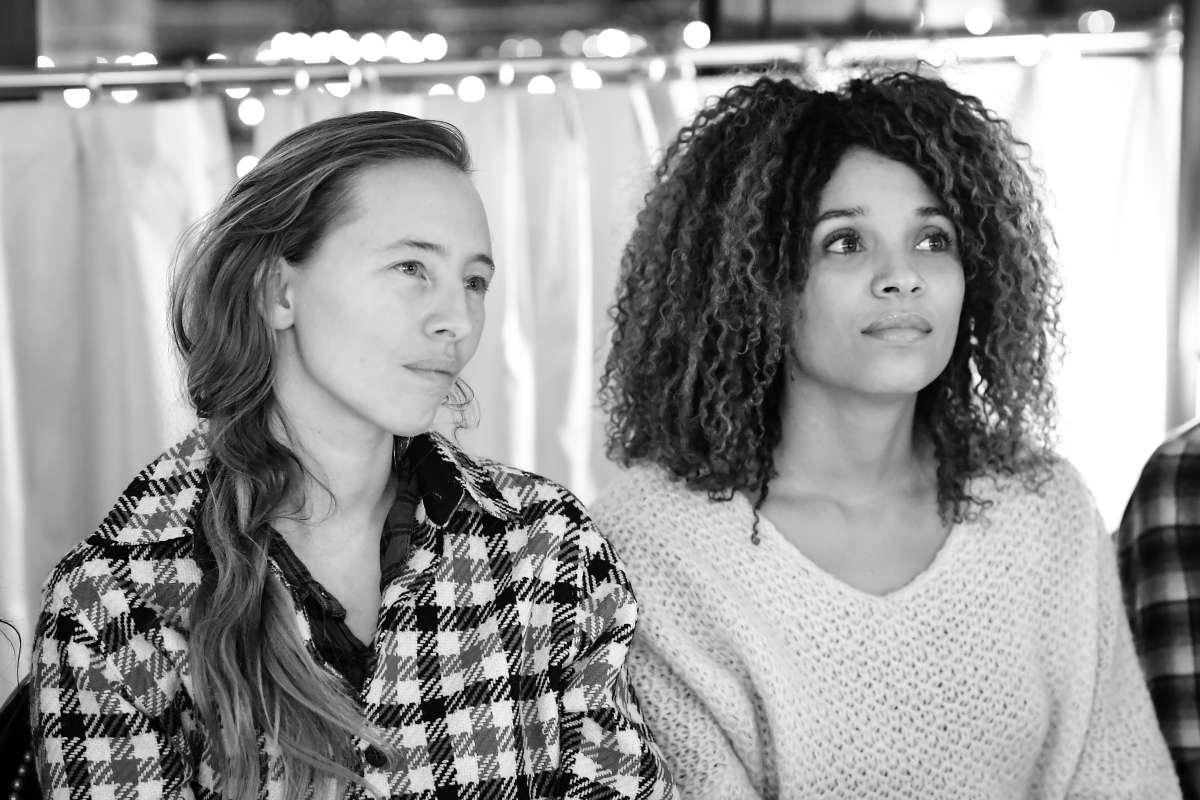 Stefi Celma et Isild le Besco au dîner Girls support Girls