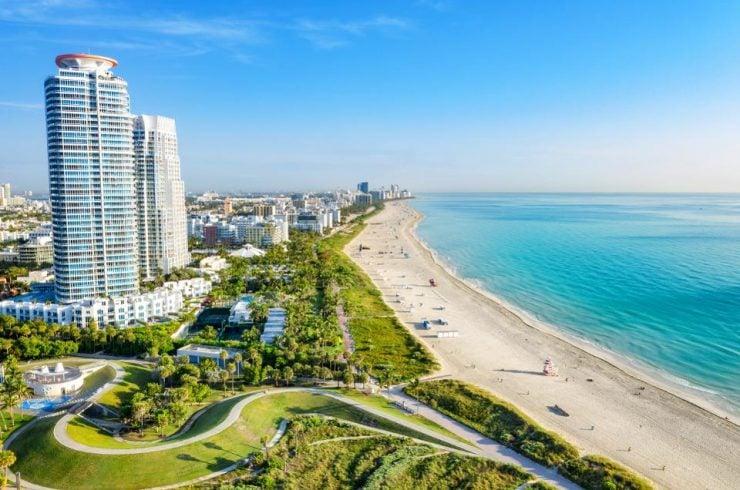Vue de Miami, élue meilleure ville où vivre aux États-Unis
