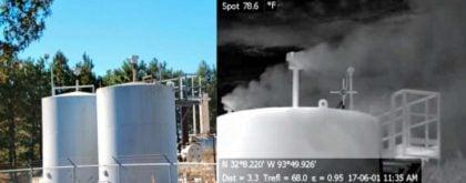 Fuite de gaz dans des cuves de stockage, Haynesville, Texas