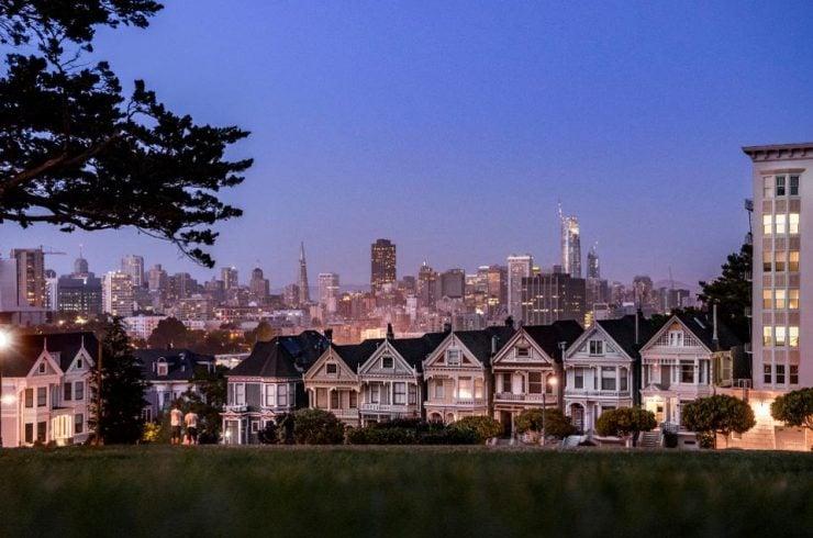 Maisons victoriennes à San Francisco, pire ville où vivre aux États-Unis