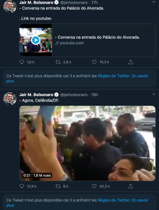Vidéo bain de foule Jair Bolsonaro