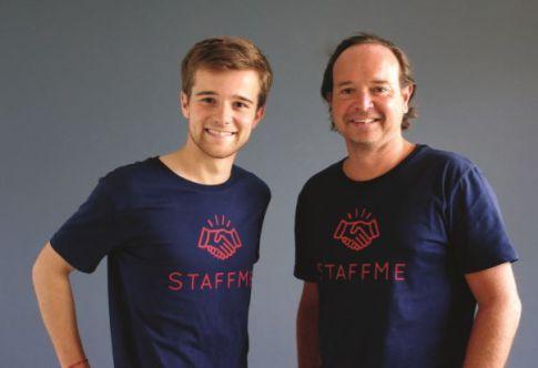 Co fondateur StaffMe Amaury d'Everlange (à droite photo)