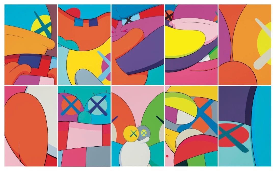 Peinture artiste kaws art contemporain