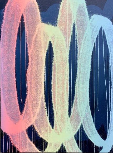 Franck Noto - F60HAT2 - 97X130 cm - technique mixte sur toile de lin 2020