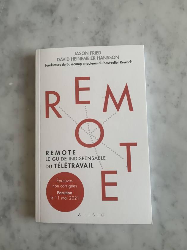 guide livre Remote, Le guide indispensable du télétravail aux éditions Alisio