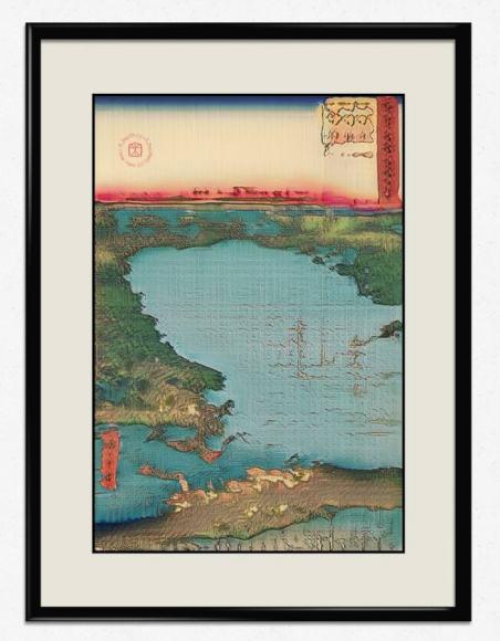 The Dormant Lake, 2019, Electric Dreams of Ukiyo, Generative Adversarial Networks, imprimé sur papier washi. Crédit photo : Obvious
