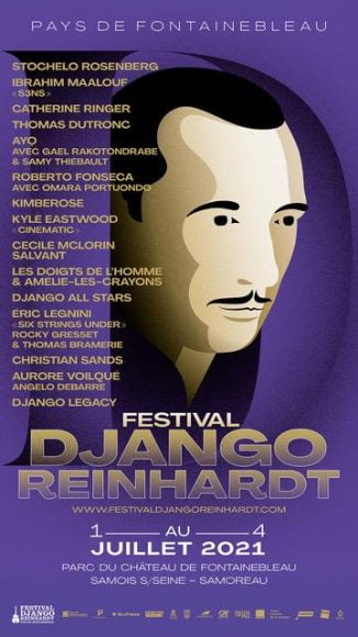 affiche Festival Django Reinhardt