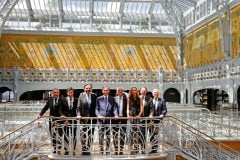 Bernard Arnault, PDG de LVMH, lors de l'inauguration de la Samaritaine