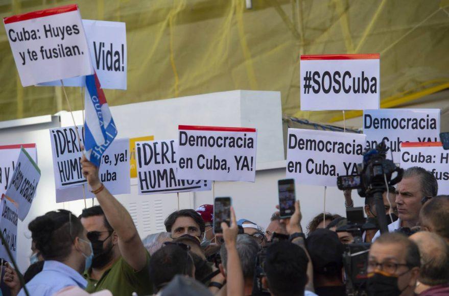 Manifestation à Cuba