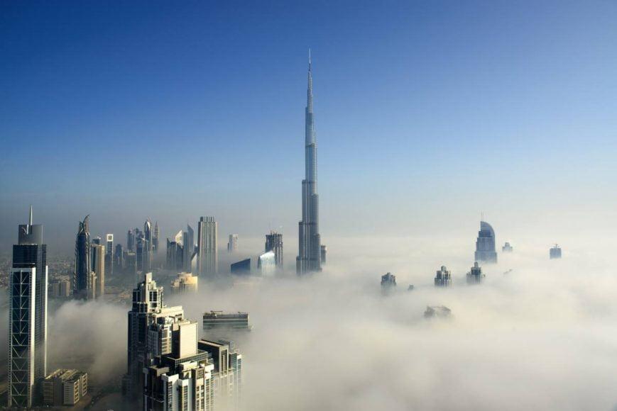 Pluie sur Dubaï