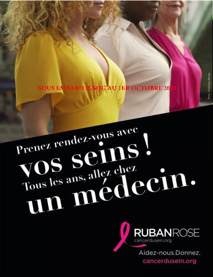 Affiche campagne marche des seins