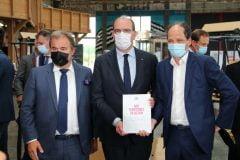 Patrick Lévy-Waitz avec Jean Castex lors de la remise du rapport
